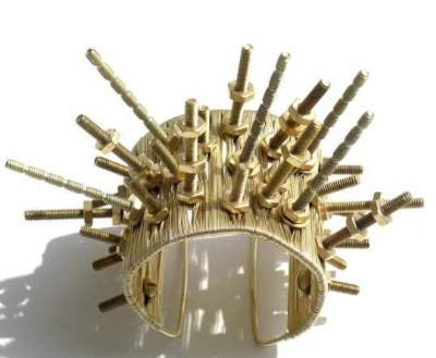 ... cuffs and various neck pieces made by using industrial elements such as nuts, bolts, spikes, screws and bicycle chains. The stylish, bold and chic ...
