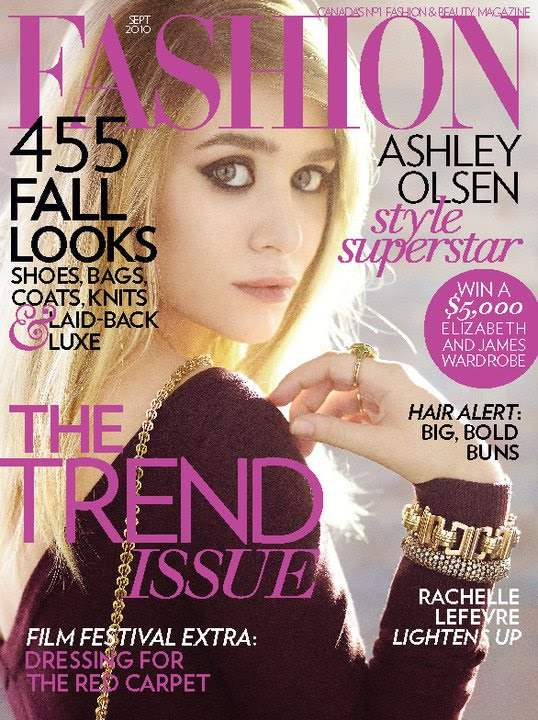 Ashley Olsen For Fashion Magazine September 2010