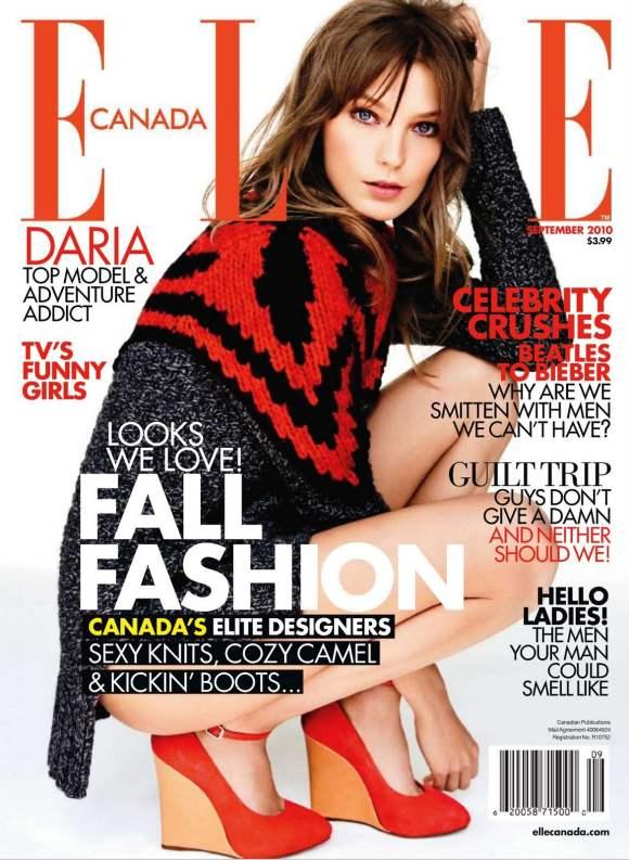 Daria Werbowy Daria Werbowy For Elle Canada