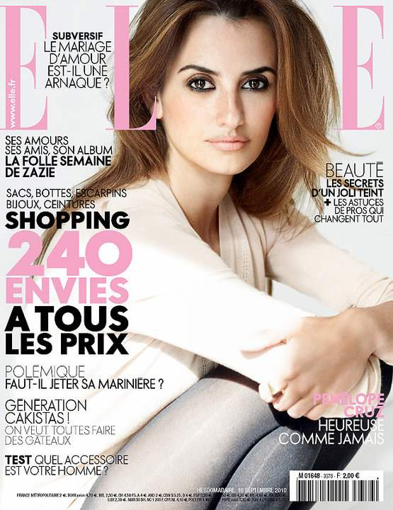 penelope cruz makeup. Penelope Cruz for Elle France
