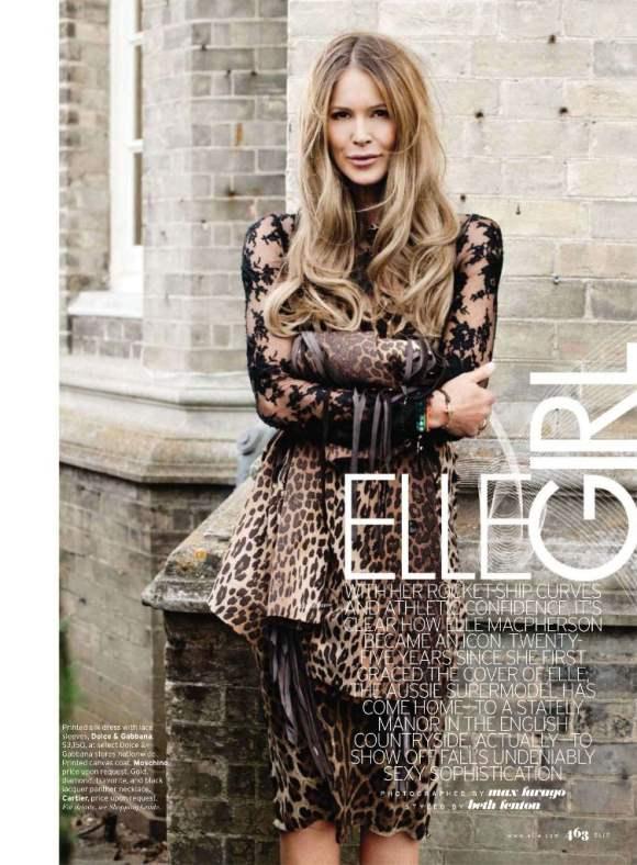 Elle Macpherson For Elle Us October 2010