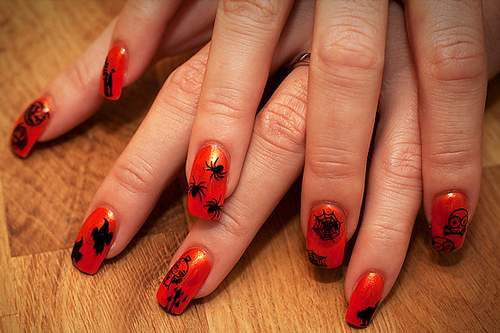 Halloween Nail Art More Ideas Crafts Ideas Crafts For Kids