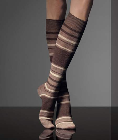 4d5f74bb2 Striped above-the-knee woolen socks from MaxMara Fall 2010-2011 collection