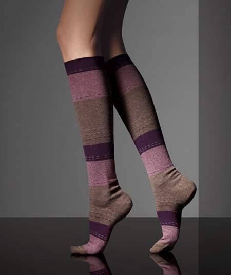 7edadfbbb Striped knee-high woolen socks from MaxMara Fall 2010-2011 collection