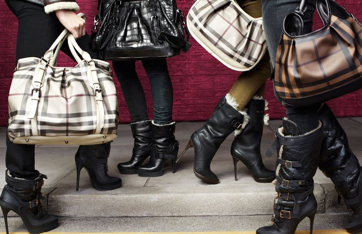 Burberry fur boots for women