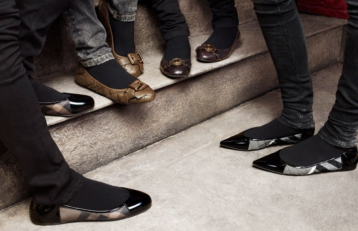 Burberry  ballet flats leather fall winter