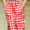 Dand G red and white check jumpsuit spring 2011
