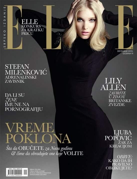 Elsa Hosk Elle Serbia December 2010