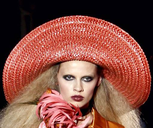 Huge bright colorful brim hats for beach spring 2011 Marc Jacobs
