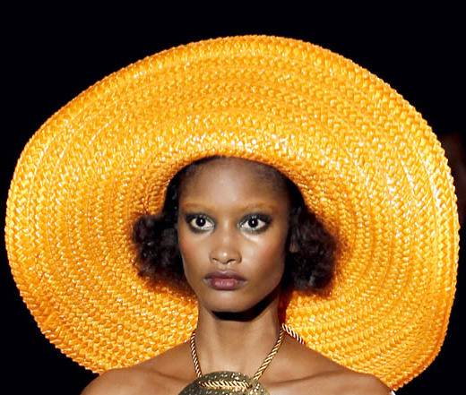 Huge bright yellow colorful brim hat for beach spring 2011 Marc Jacobs