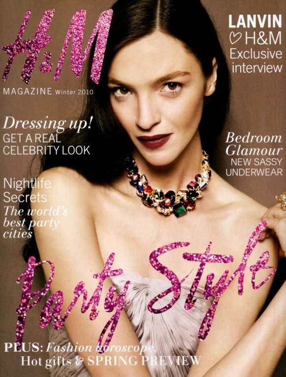Mariacarla Boscono H-M Magazine Winter 2010