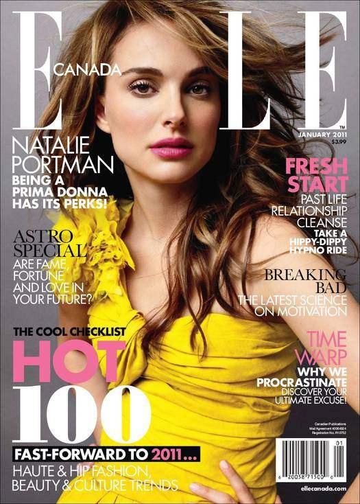 Natalie Portman Elle Canada January 2011