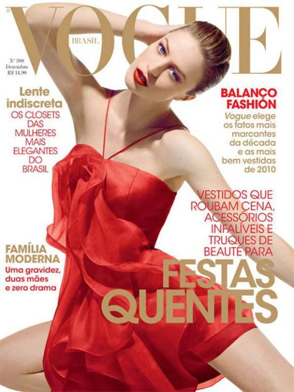 Raquel Zimmermann for Vogue Brazil December 2010
