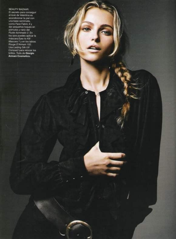 Valentina Zelyaeva for Harper's Bazaar Espana December 2010