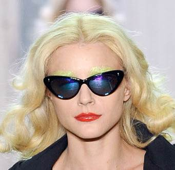 cat eye sunglasses trend spring 2011 Giles