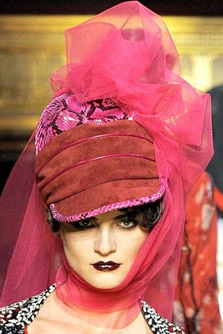 dramatic headgears for women spring summer 2011 John Galliano