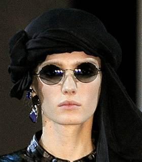 round sunglasses trend spring 2011 Armani