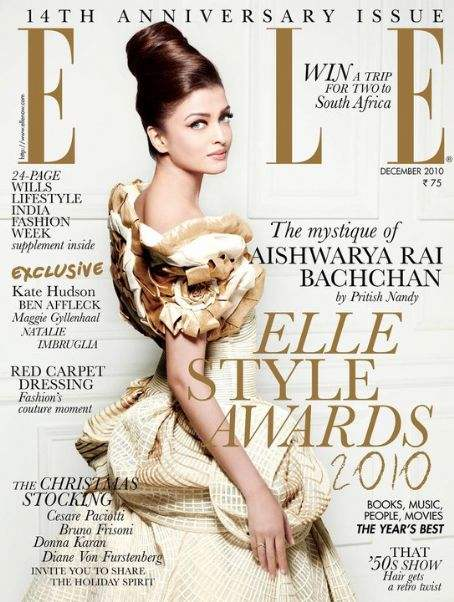 Aishwarya Rai for Elle India December 2010