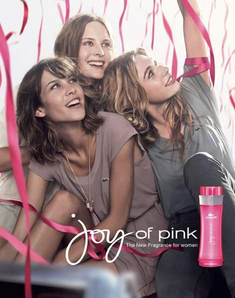 Alexa Chung for Lacoste Joy of Pink Fragrance Campaign