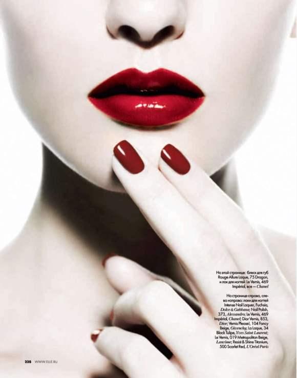 Beauty editorial Elle Russia December 2010 2