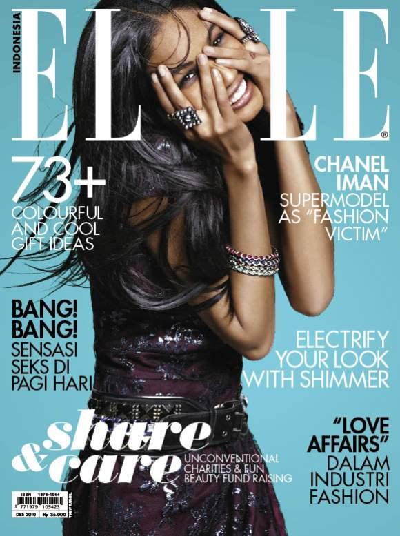 Chanel Iman Elle Indonesia December 2010