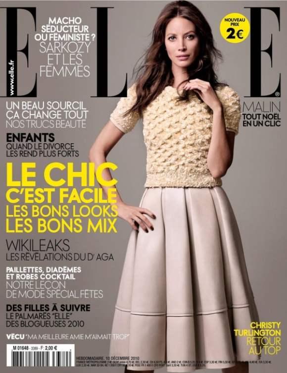 Christy Turlington for Elle France December 2010