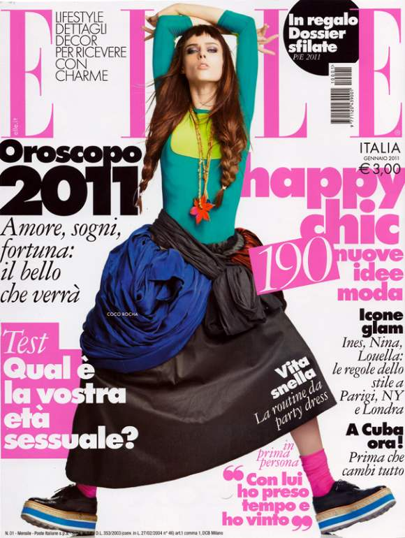 Coco Rocha for Elle Italia January 2011
