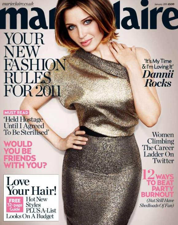 Dannii Minogue for Marie Claire January 2011