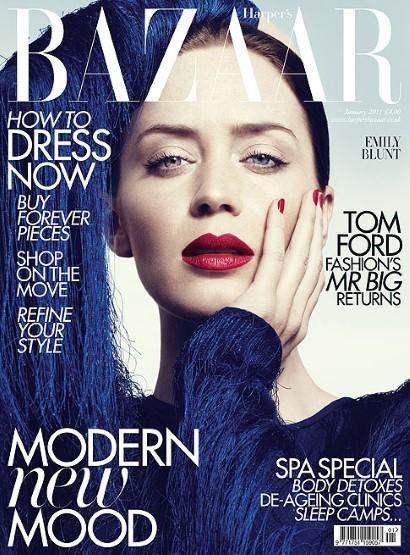 Emily Blunt Harpers Bazaar UK January 2011 2