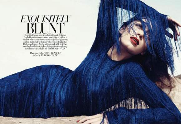 Emily Blunt Harpers Bazaar UK January 2011 4