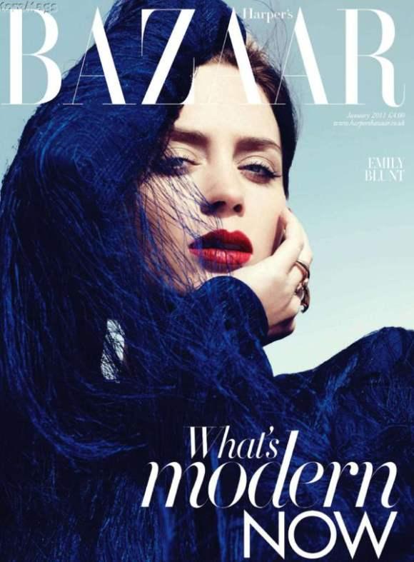 Emily Blunt Harpers Bazaar UK January 2011