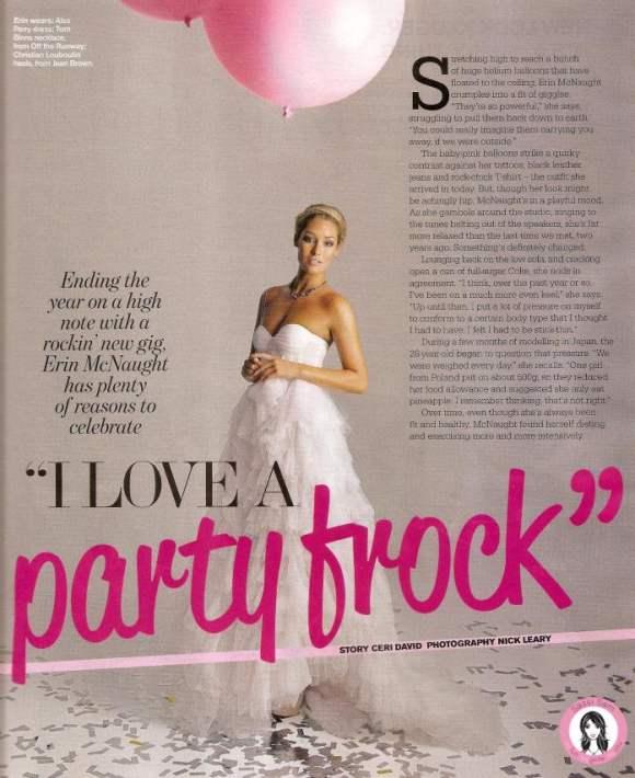 Erin McNaught for Sunday Magazine December 2010