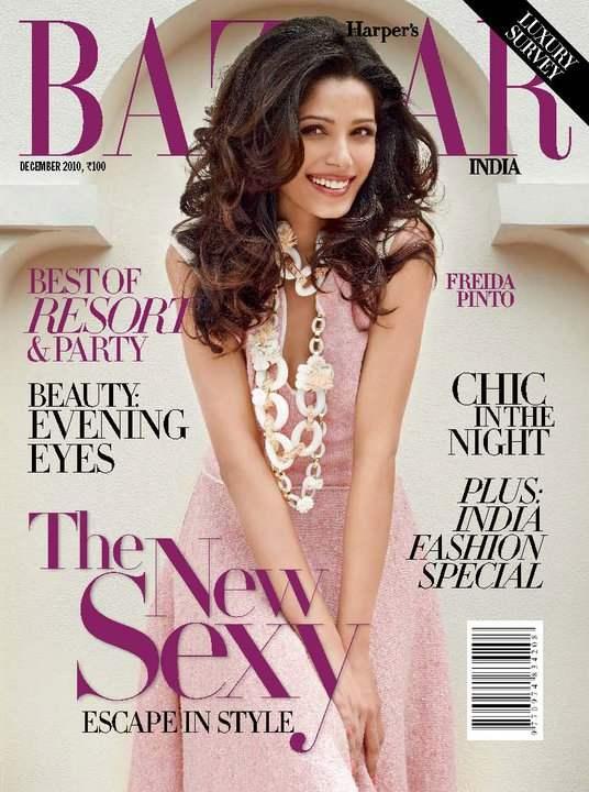 Freida Pinto for Harpers Bazaar India December 2010