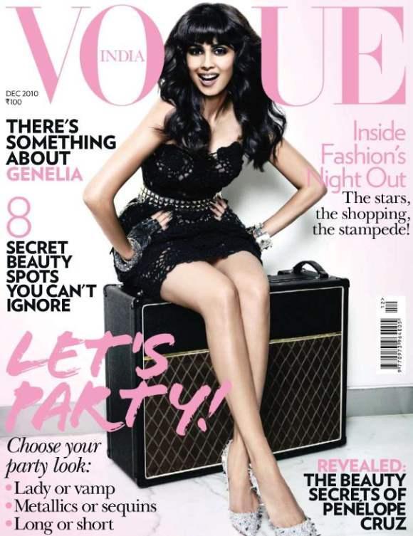 Genelia DSouza for Vogue India December 2010