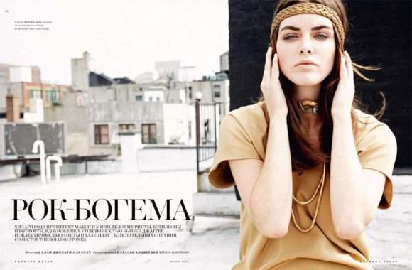 Hilary Rhoda for Harpers Bazaar Russia January 2011