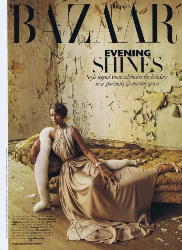 Iman Harpers Bazaar US December 2010