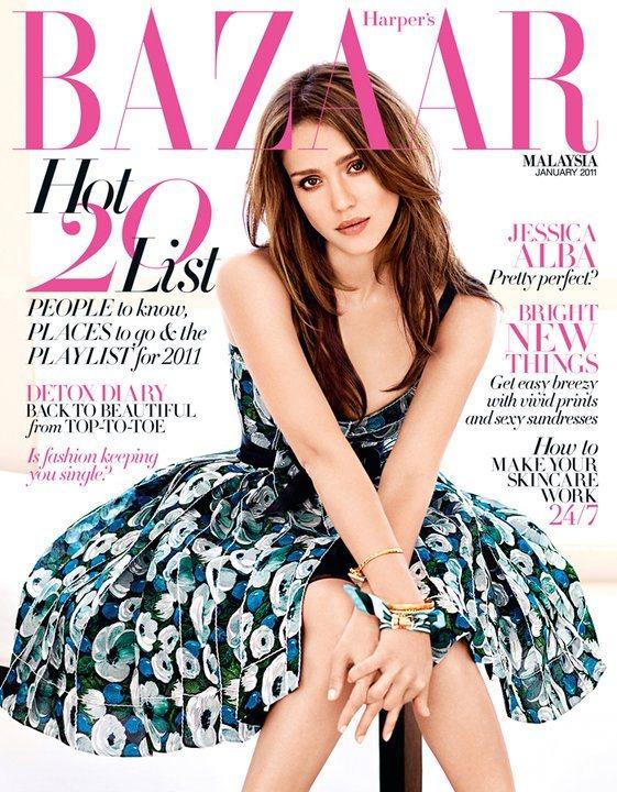 Jessica Alba Harpers Bazaar Malaysia January 2011