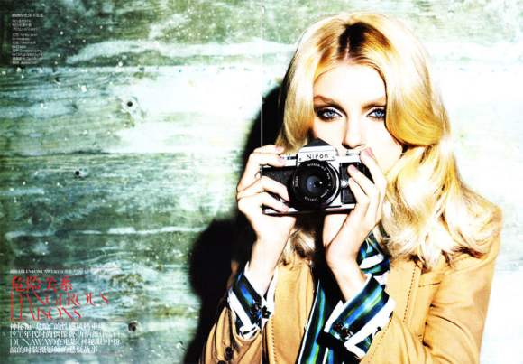 Jessica Stam for Vogue China January 2011 2