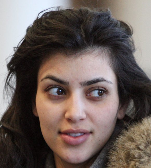 Kim Kardashian without makeup-1