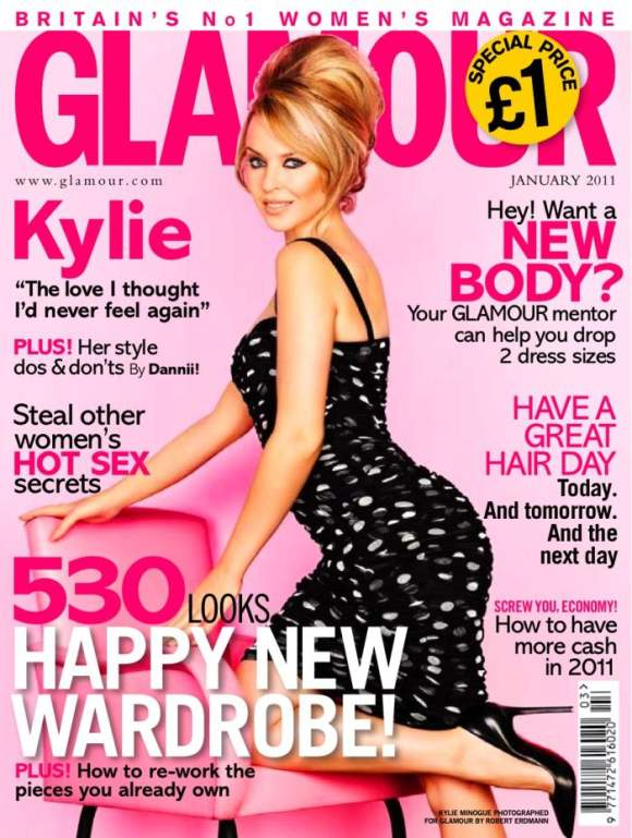 Kylie Minogue for Glamour UK January 2011
