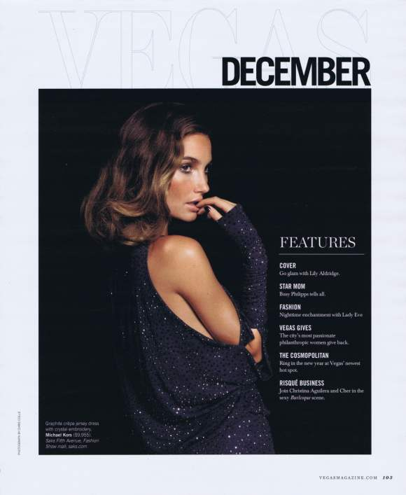 Lily Aldridge VEGAS Magazine December 2010 3