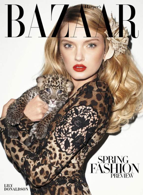 Lily Donaldson Harpers Bazaar US January 2011
