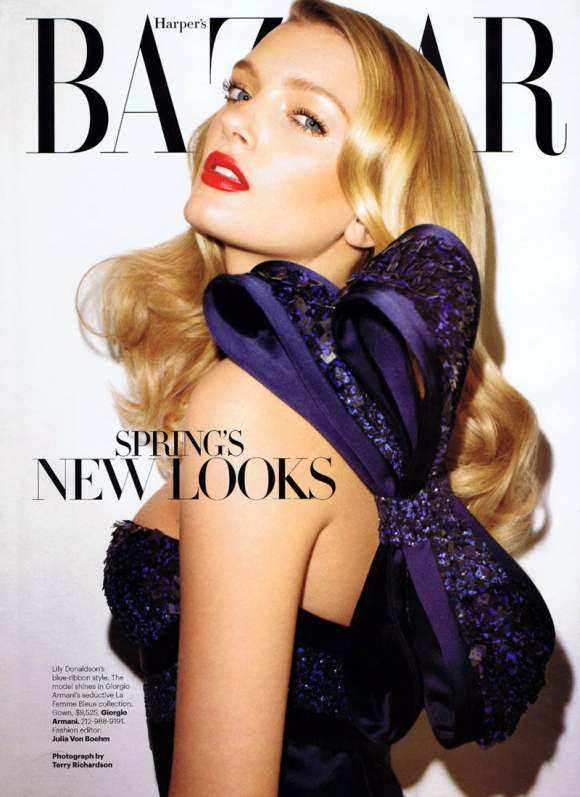 Lily Donaldson for Harpers Bazaar US January 2011 2