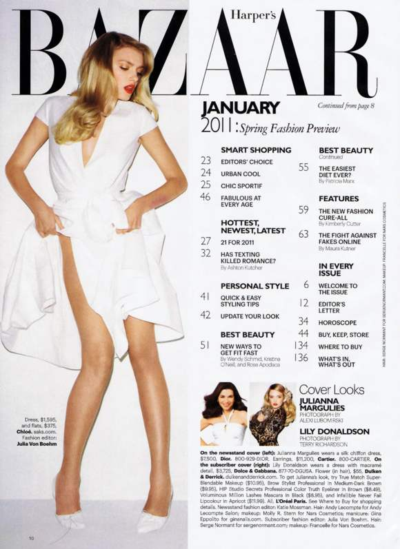 Lily Donaldson for Harpers Bazaar US January 2011 3