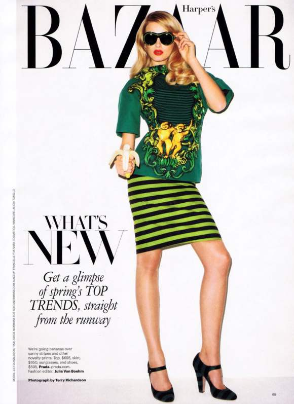 Lily Donaldson for Harpers Bazaar US January 2011