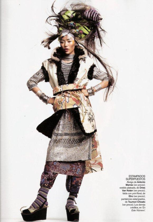 Liu Wen for Vogue Espana January 2011 4