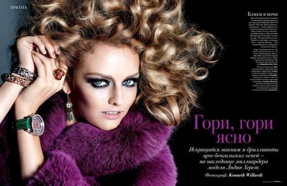 Lydia Hearst for Tatler Russia December 2010 2