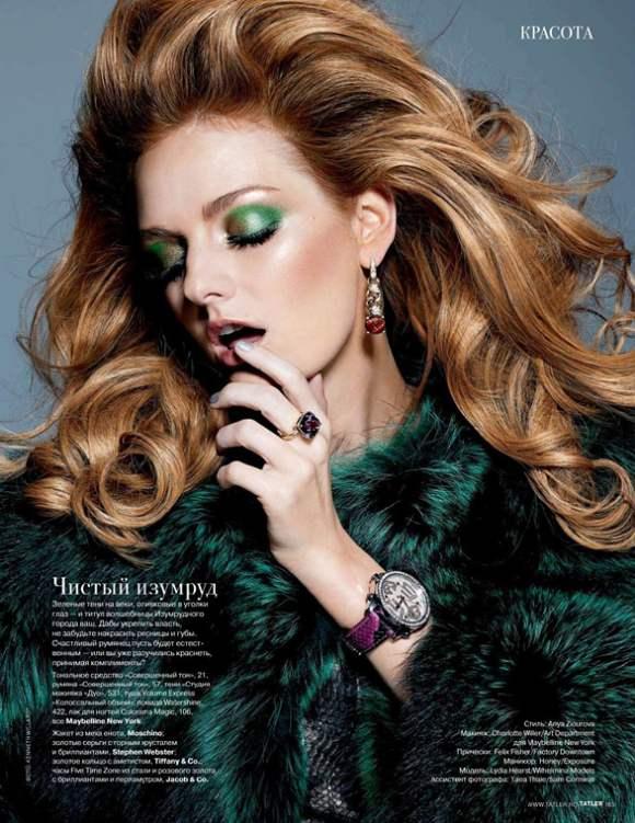 Lydia Hearst for Tatler Russia December 2010
