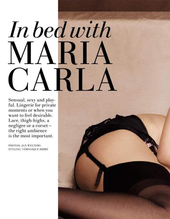 Mariacarla Boscono for H M Magazine Winter 2010 2