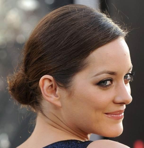 Marion cotillard bun hairstyle